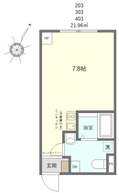 (仮称)台東区上野桜木2丁目マンションC・403号室の間取り