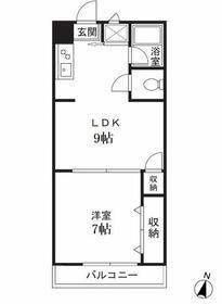 二子田園マンション・302号室の間取り