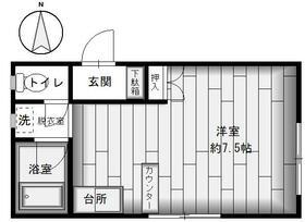 ドエルU-KI・102号室の間取り