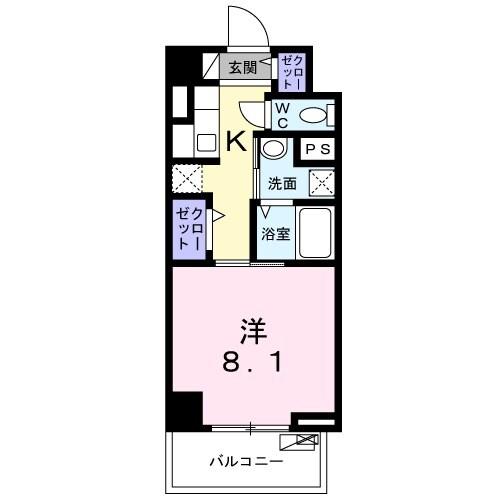 ライト・アベニュー・06020号室の間取り