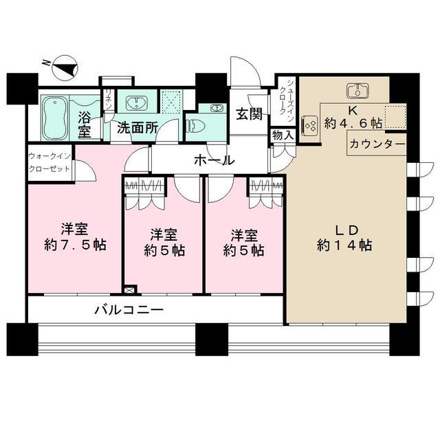 THE TOWER KOISHIKAWA・1004号室の間取り