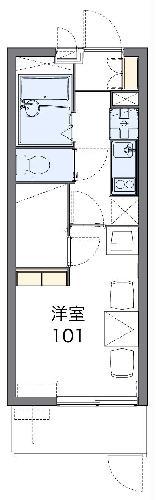 レオパレスルミエール神戸・202号室の間取り