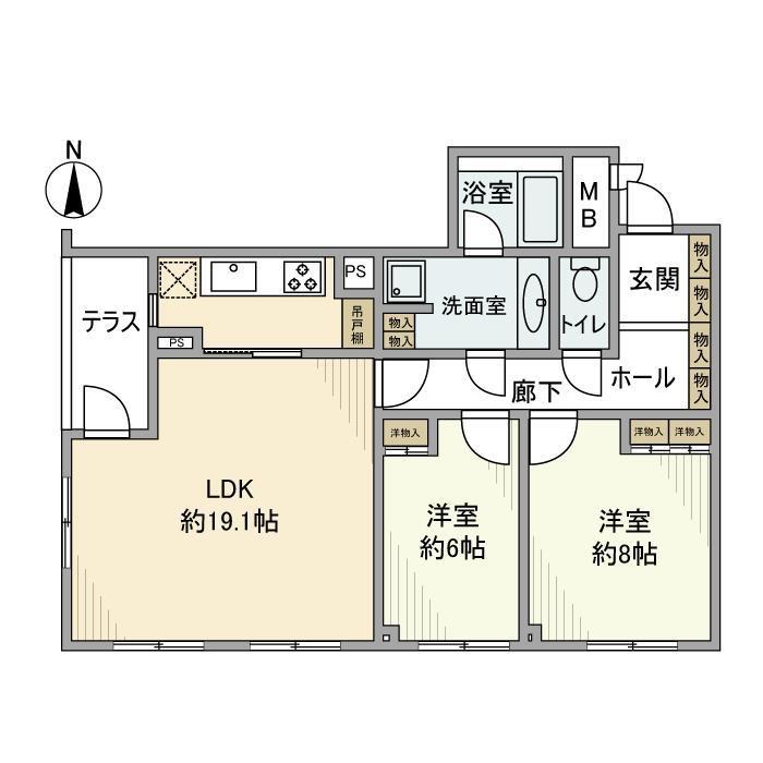 ル・アピカ成城・302号室の間取り