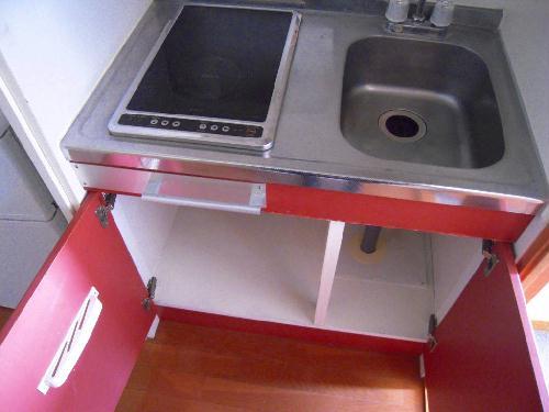 レオパレスヴァン ヴェール 107号室のキッチン