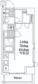 LEXE 東京 NorthⅡ・405号室の間取り