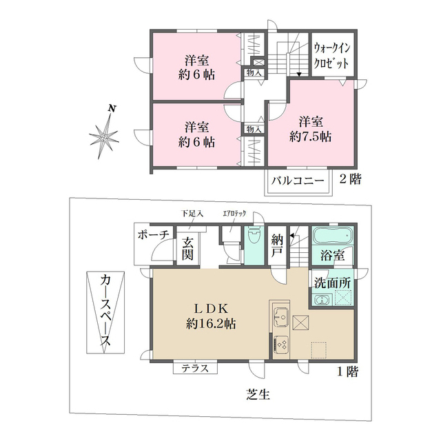 ザ・パークメゾン上井草駅前Ⅱ 2号棟・1号室の間取り