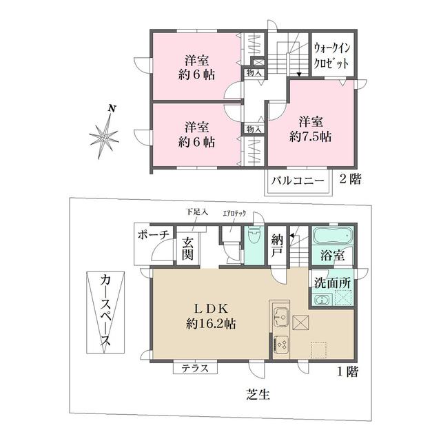 ザ・パークメゾン上井草駅前Ⅱ 4号棟・1号室の間取り