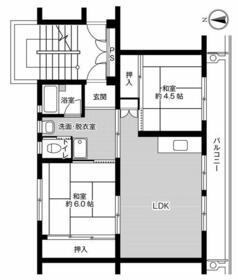ビレッジハウス結城第二2号棟・0104号室の間取り