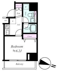 プレール・ドゥーク板橋本町Ⅱ・303号室の間取り