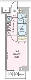 AZEST梅島・205号室の間取り