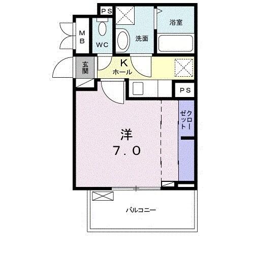 サンガーデン 武庫川・03040号室の間取り