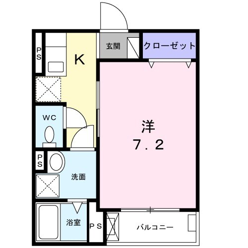 サンライズ赤塚・02010号室の間取り