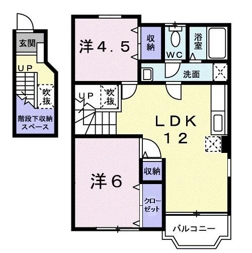 メゾンイフリートⅠ・02010号室の間取り