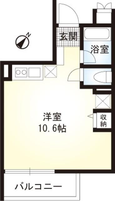 レアルタウン湘南・201号室の間取り