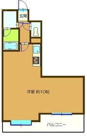 成田コリンズ・509号室の間取り