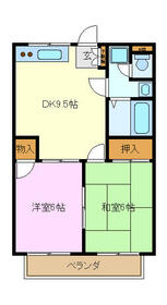 デリエール横須賀A棟・203号室の間取り