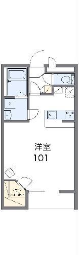 レオパレス双柳2番館・105号室の間取り