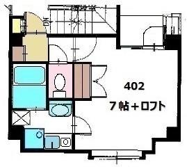 グローリアスⅢ・402号室の間取り