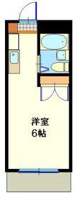 クレスト多摩川・406号室の間取り
