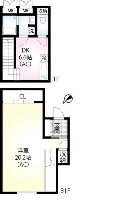 (仮称)翠川ビル新築工事・101号室の間取り