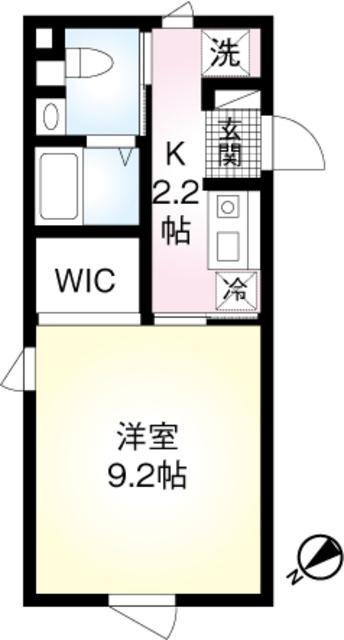 (仮称)翠川ビル新築工事・202号室の間取り