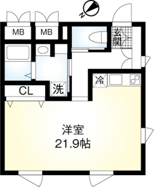(仮称)翠川ビル新築工事・301号室の間取り