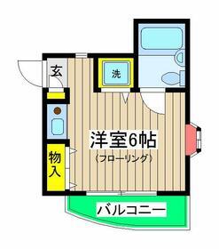 Hills Tokiwadai・101号室の間取り