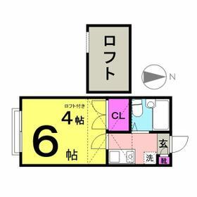 ドルミトリオ石神井公園・206号室の間取り