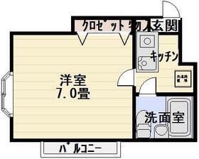 ハイタウン青井・304号室の間取り