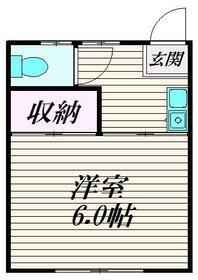 コスモス神楽坂・102号室の間取り