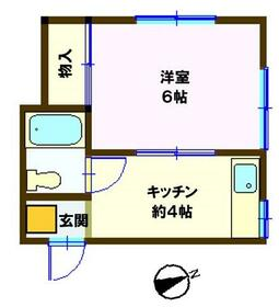 コーポ竜沢・102号室の間取り