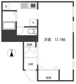 東京セントラル代々木・603号室の間取り