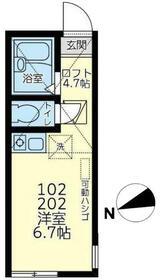 ユナイト東寺尾システィーナの杜・102号室の間取り