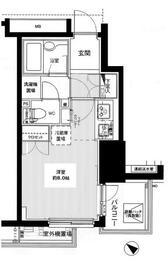 ファミール東銀座グランスイートタワー・210号室の間取り