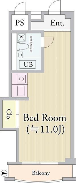 パークグレース新宿・1112号室の間取り