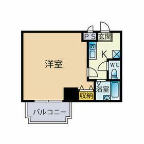 ビジネス・ワン美野島・309号室の間取り