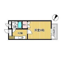 PLEAST南福岡・105号室の間取り