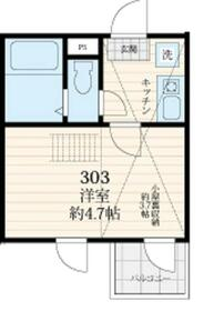 アミティ王子神谷(Amitie Ojikamiya)・303号室の間取り