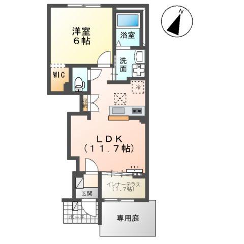 (仮称)千葉市中央区塩田町新築アパート 102号室の間取り