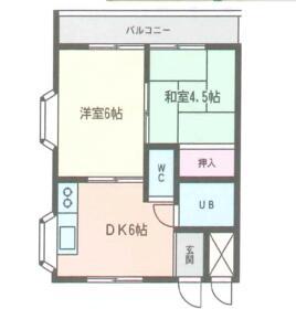 K&Kマンション・105号室の間取り