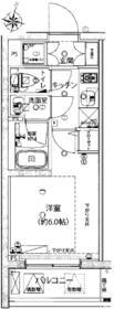 ライジングプレイス綾瀬・207号室の間取り
