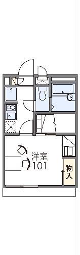 レオパレス長尾元町Ⅱ・104号室の間取り
