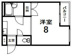 マンションV3 101号室の間取り