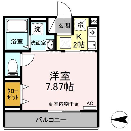 Comfort yuuya・103号室の間取り