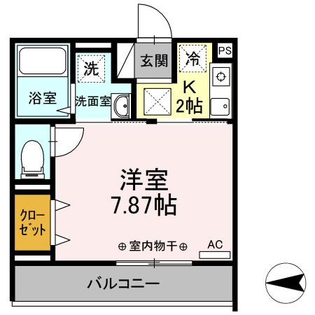 Comfort yuuya・105号室の間取り