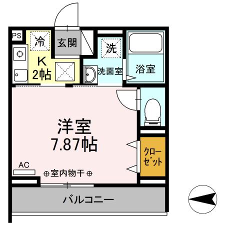 Comfort yuuya・106号室の間取り