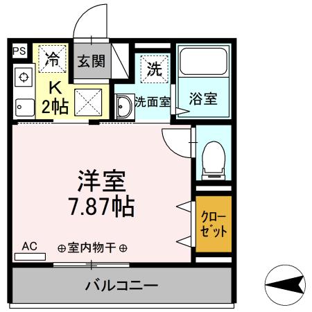 Comfort yuuya・108号室の間取り