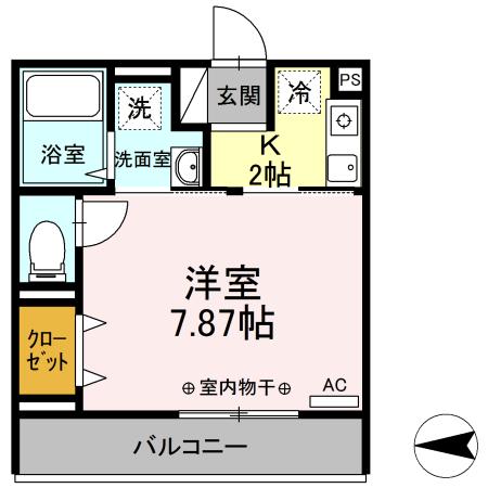 Comfort yuuya・203号室の間取り