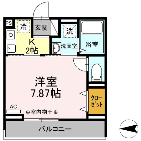 Comfort yuuya・206号室の間取り