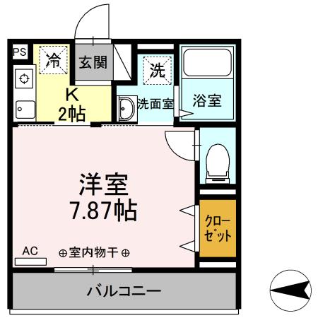 Comfort yuuya・208号室の間取り